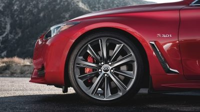 2018 INFINITI Q60 Red Sport 400 Sports Coupe Design | Staggered 20-inch Aluminum-alloy Wheels